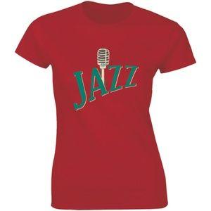 Beautiful Jazz Music Singing Microphone T-shirt